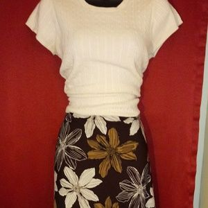Old Navy brown flower skirt